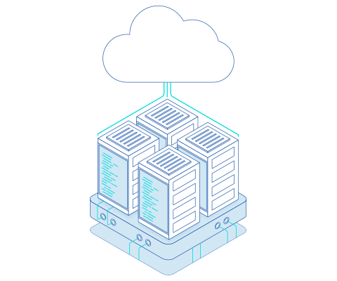 Server rack illustration