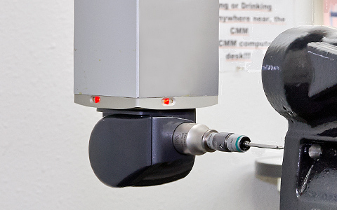 CMM measuring machined part
